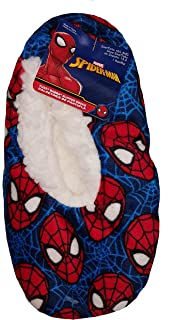Marvel Comics Spider-Man Blue Slipper Socks
