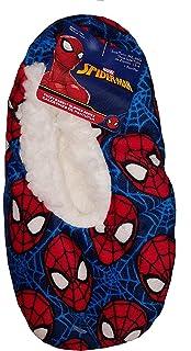 Marvel Comics Spider-Man Blue Slipper Socks