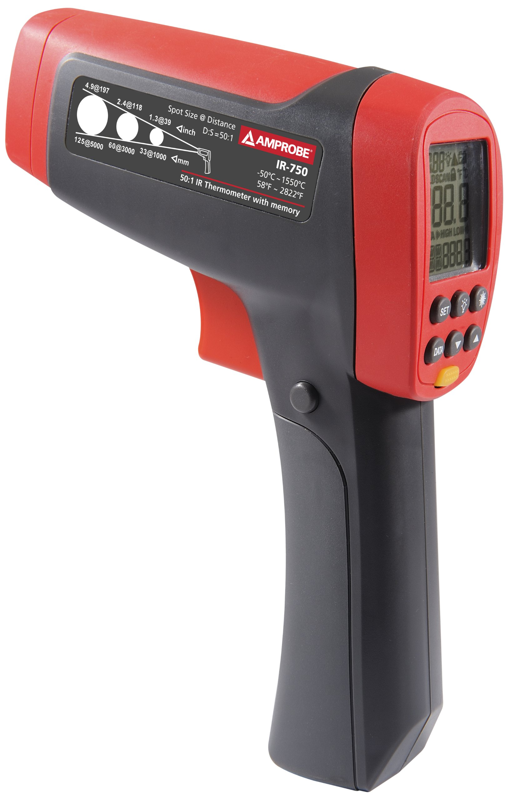 Amprobe IR-750 Infrared Thermometer, -58F to 2822F , 50:1