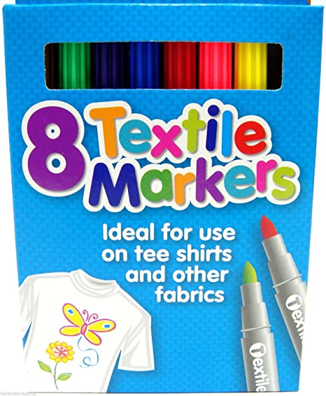 Fabric Markers Pen Colour Assorted Permanent Ink Textile Fabric Markers 4 Pack