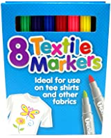 Coloured Fabric Markers T Shirt Pens Fabric Pens Marker Pen Textile Markers x 8
