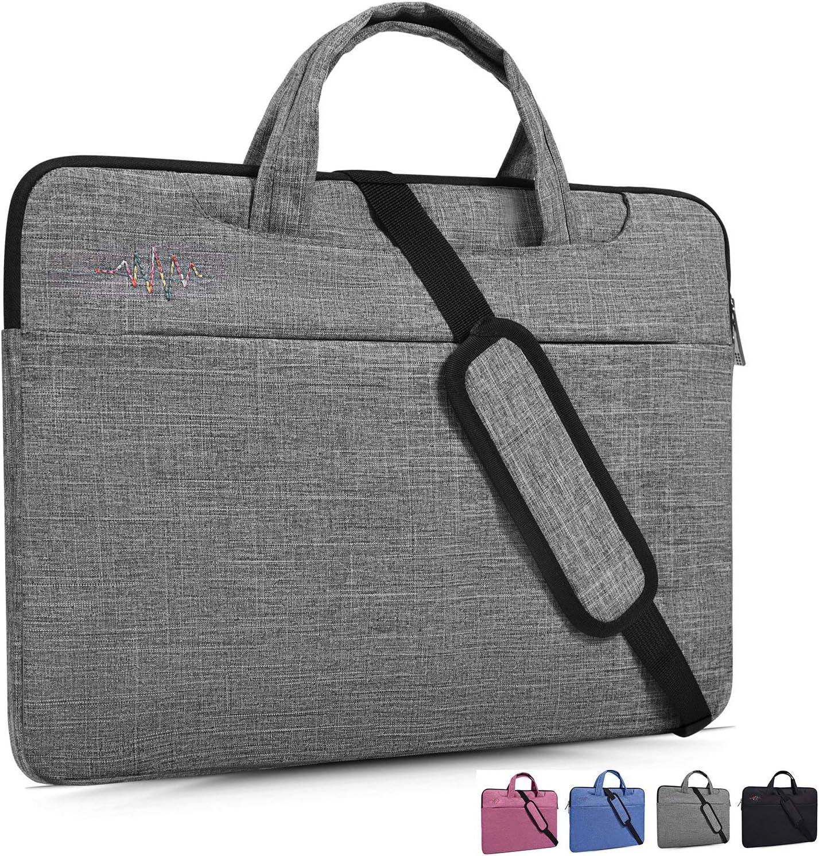 "13.3 Inch Laptop Shoulder Bag Sleeve Case Fit 2018 MacBook Air Retina A1932,MacBook Air 13.3"",12.3'' Google Pixelbook,Huawei MateBook X Pro 13.9,HP ASUS DELL Lenovo Acer,13-13.3 inch Notebook Bag,Gray"