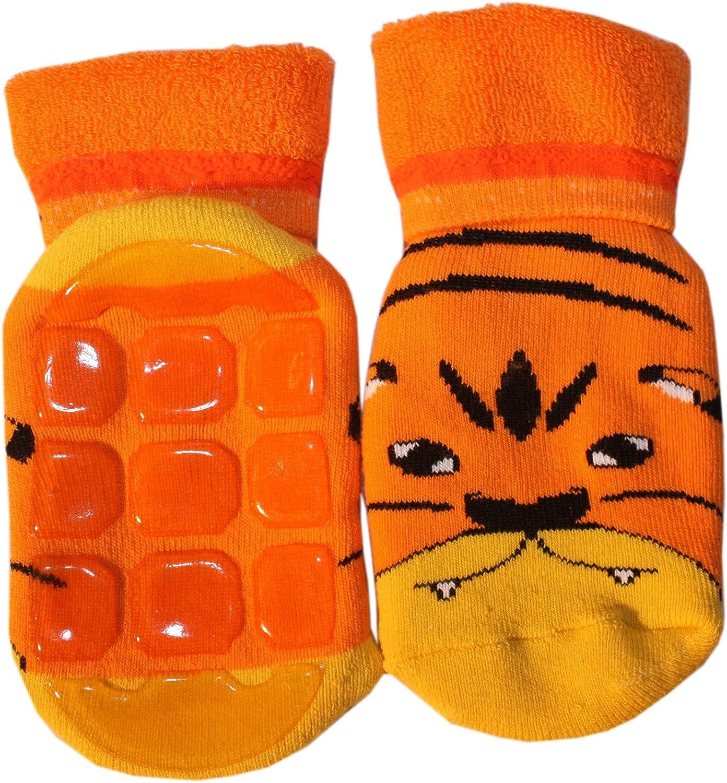 Weri Spezials High ABS terry Socks Orange Tiger cub