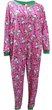 briefly stated peanuts snoopy christmas plus size onesie pajama for women 1x - Snoopy Christmas Pajamas