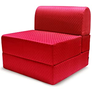 Story@Home Single Seater Premium Sofa Cum Bed (Maroon)