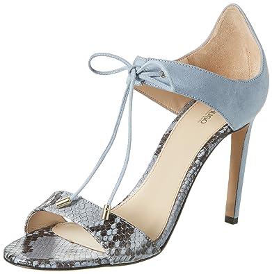 HUGO Damen Felicity-P 10197236 01 Zehentrenner, Blau (Light/Pastel Blue 451), 37 EU