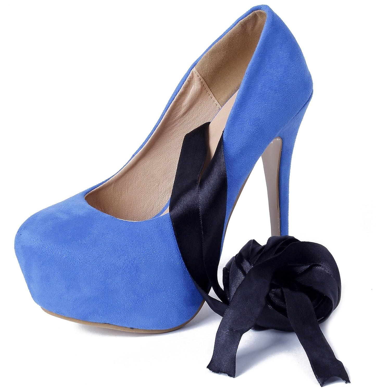 AgeeMi Shoes Mujer Sexy Plataforma Zapatos estilete Vendaje Fiesta Zapatillas