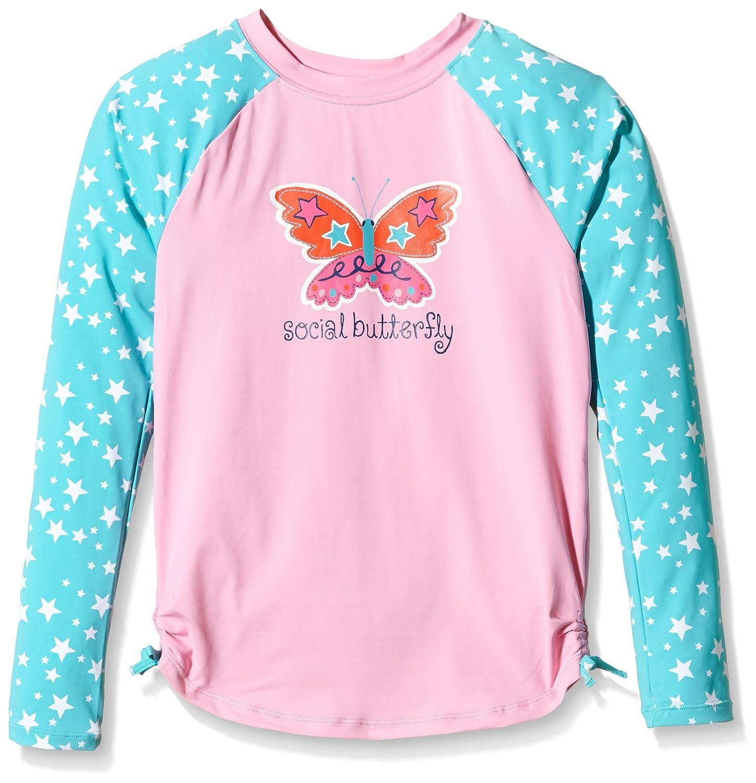 Hatley Girls Electric Butterfly Rash Guard