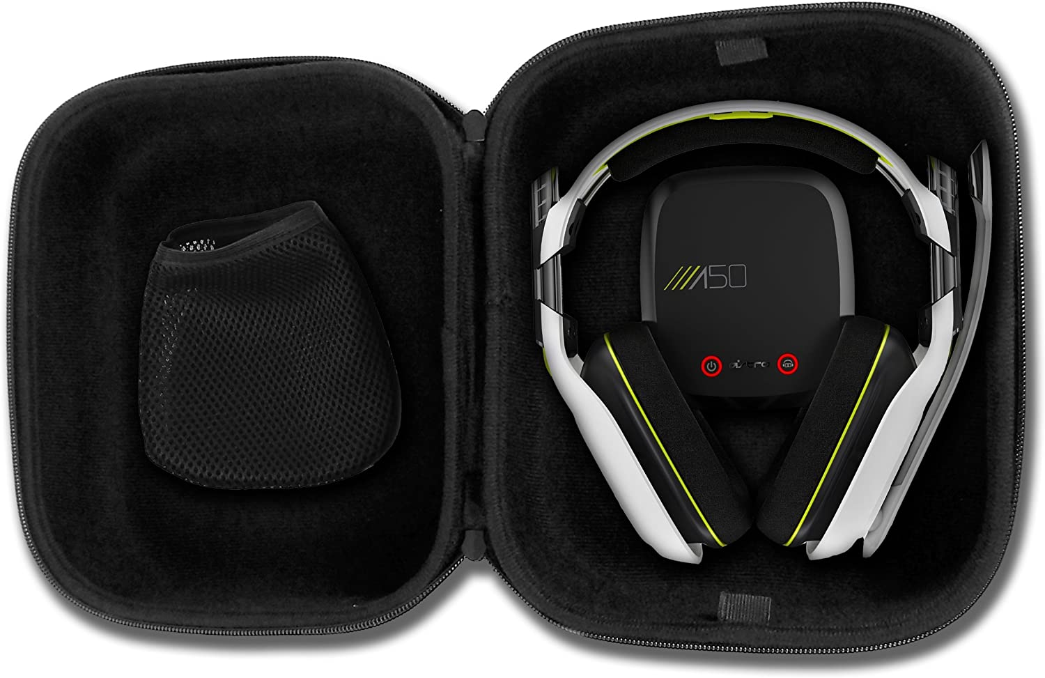 Casematix Gaming Headset Travel Case Bag Compatible with Astro A50, A40 tr and Microphone with Wired or Wireless Headphones for Pc Mac PS4 and Xbox