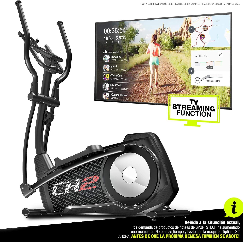 Sportstech CX2 Bicicleta elíptica con aplicación para Smartphone, Kinomap, generador eléctrico Integrado, Bluetooth, Soporte para Tablet, Volante de inercia de 27 kg: Amazon.es: Deportes y aire libre