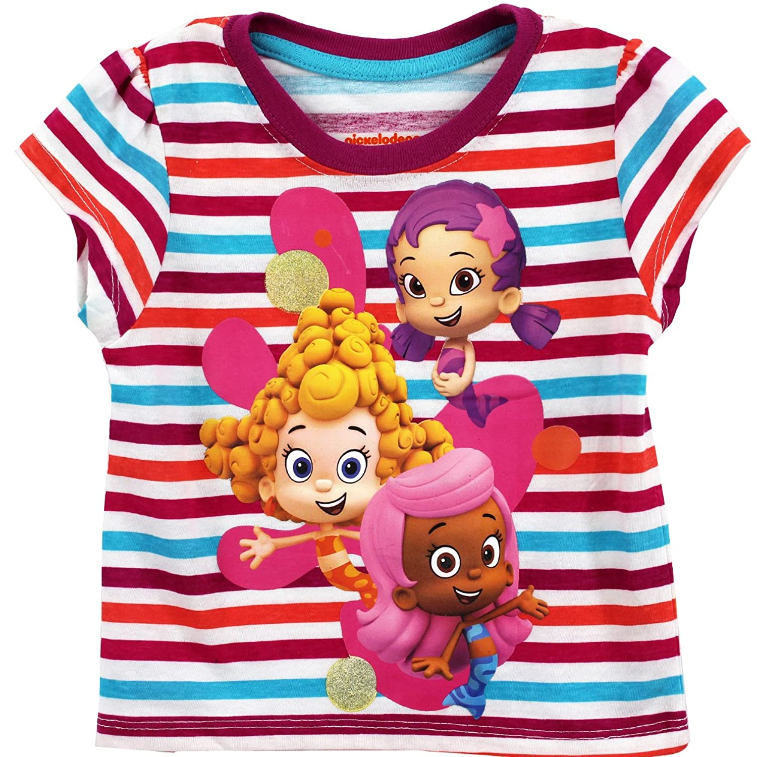 Amazon Bubble Guppies Toddler White T Shirt 7B7749 4T Clothing