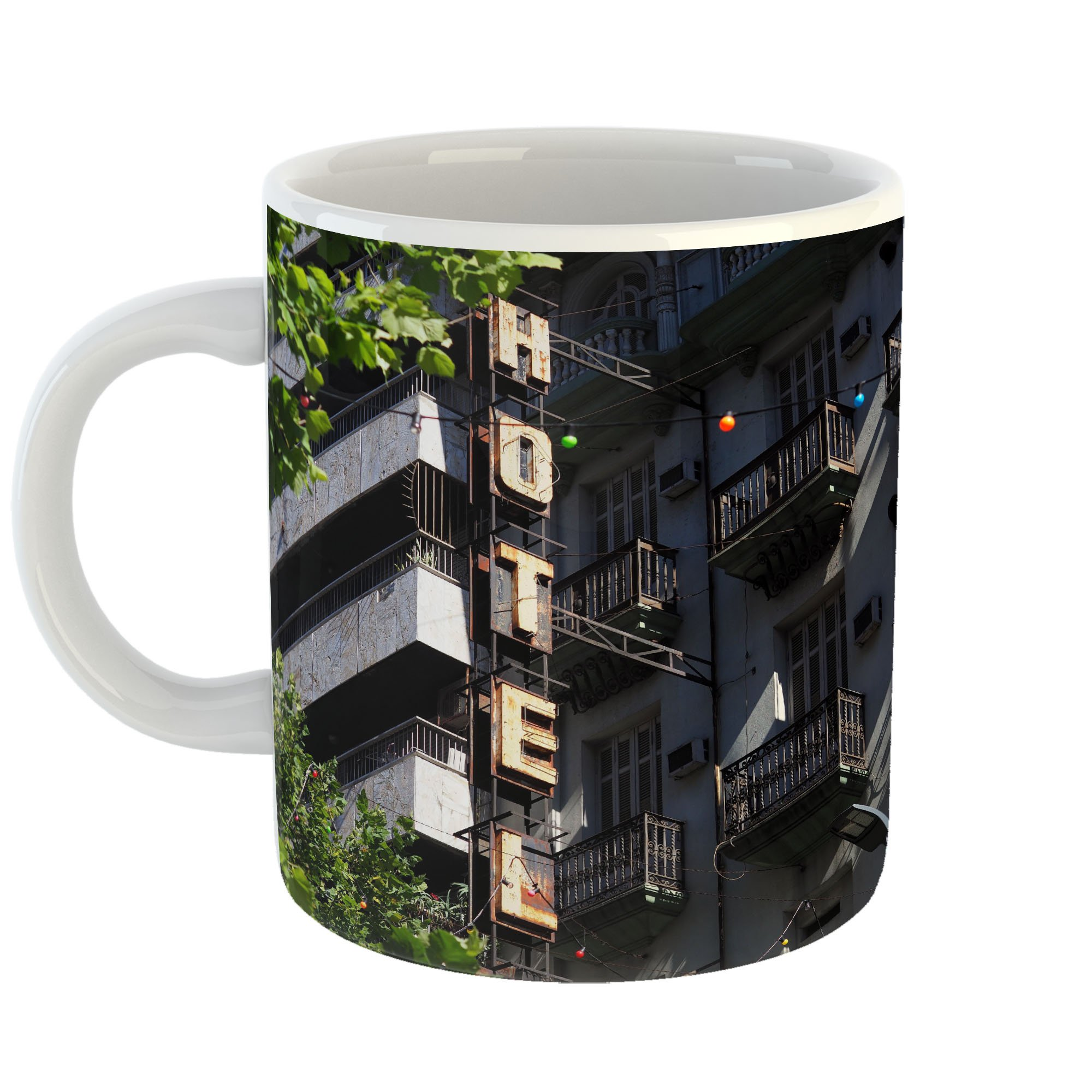 Westlake Art - City Hotel - 11oz Coffee Cup Mug - Modern Picture Photography Artwork Home Office Birthday Gift - 11 Ounce (8C6C-CC882)