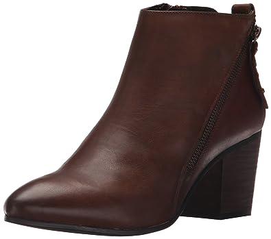 Steve Madden Women's Jaydun Cognac Leather Boot 5.5 M