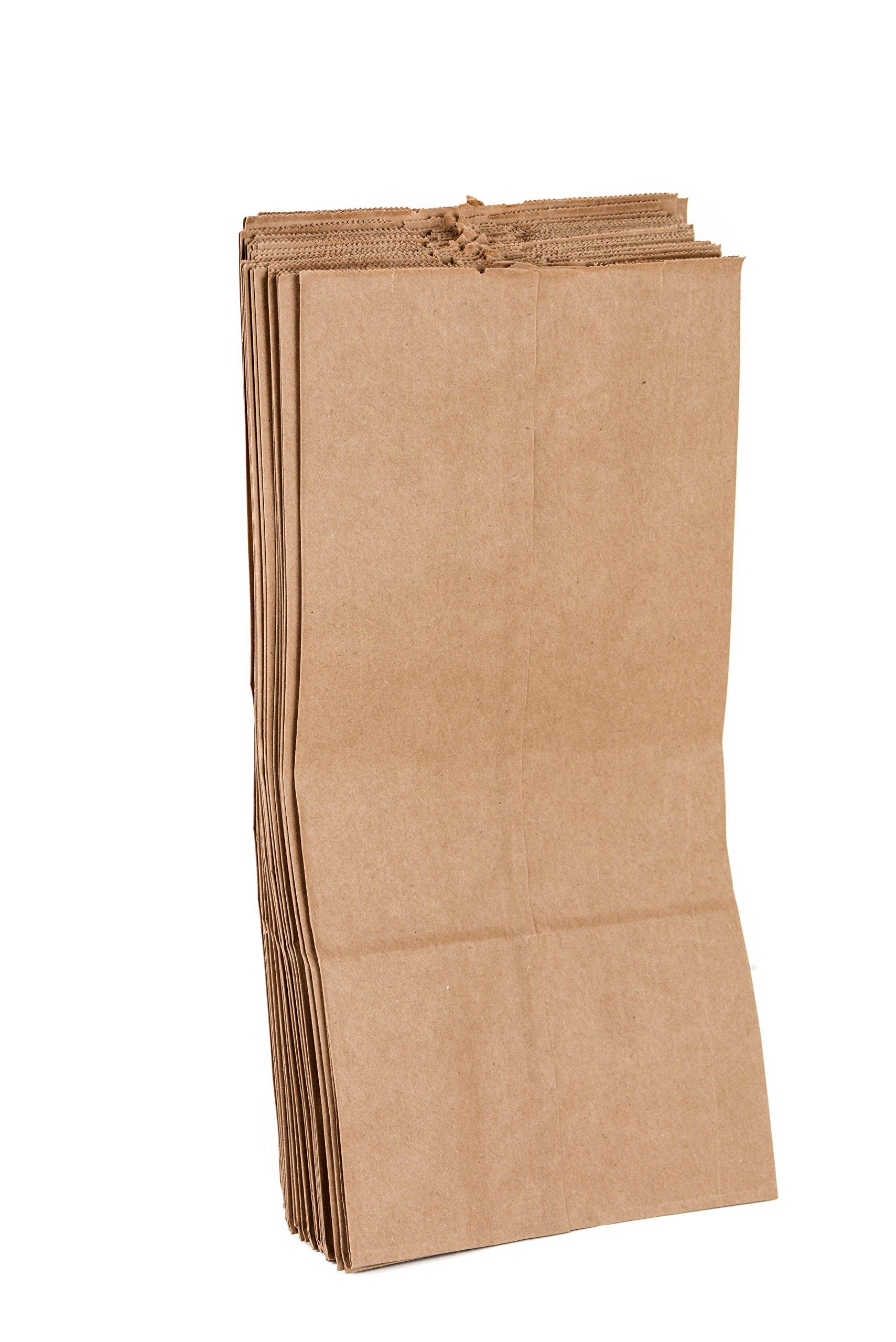 EcoQuality 1000 Brown Kraft Paper Bag (10 lb) Medium - Paper Lunch Bags, Small Snacks, Gift Bags, Grocery, Merchandise, Party Bags (6-5/16 x 4-3/16 x 13-3/8) (10 Pound Capacity) by EcoQuality (Image #3)