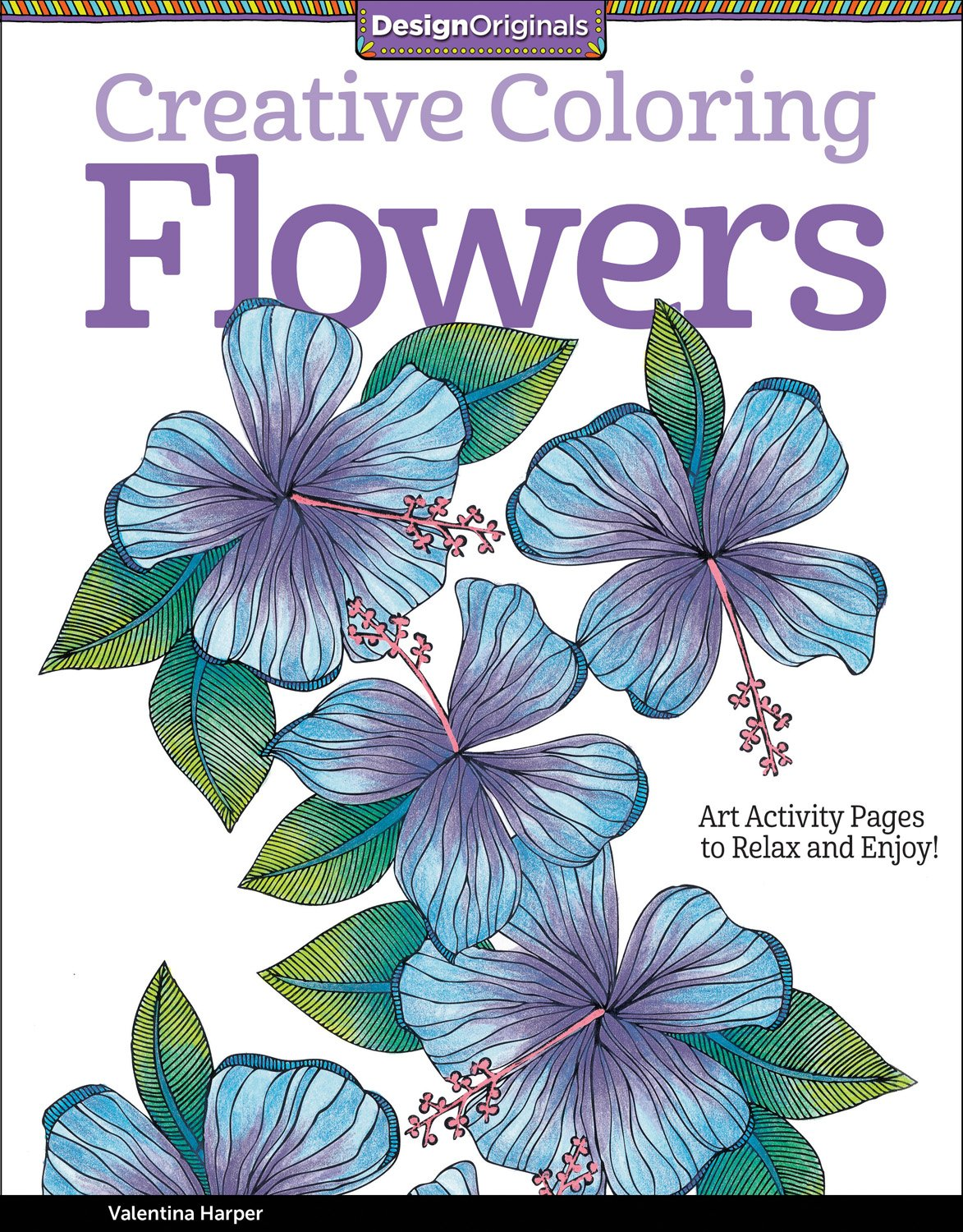 Creative Coloring Flowers Activity Pages product image