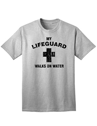 6467f530c5c My Lifeguard Walks On Water Easter Adult T-Shirt | Amazon.com