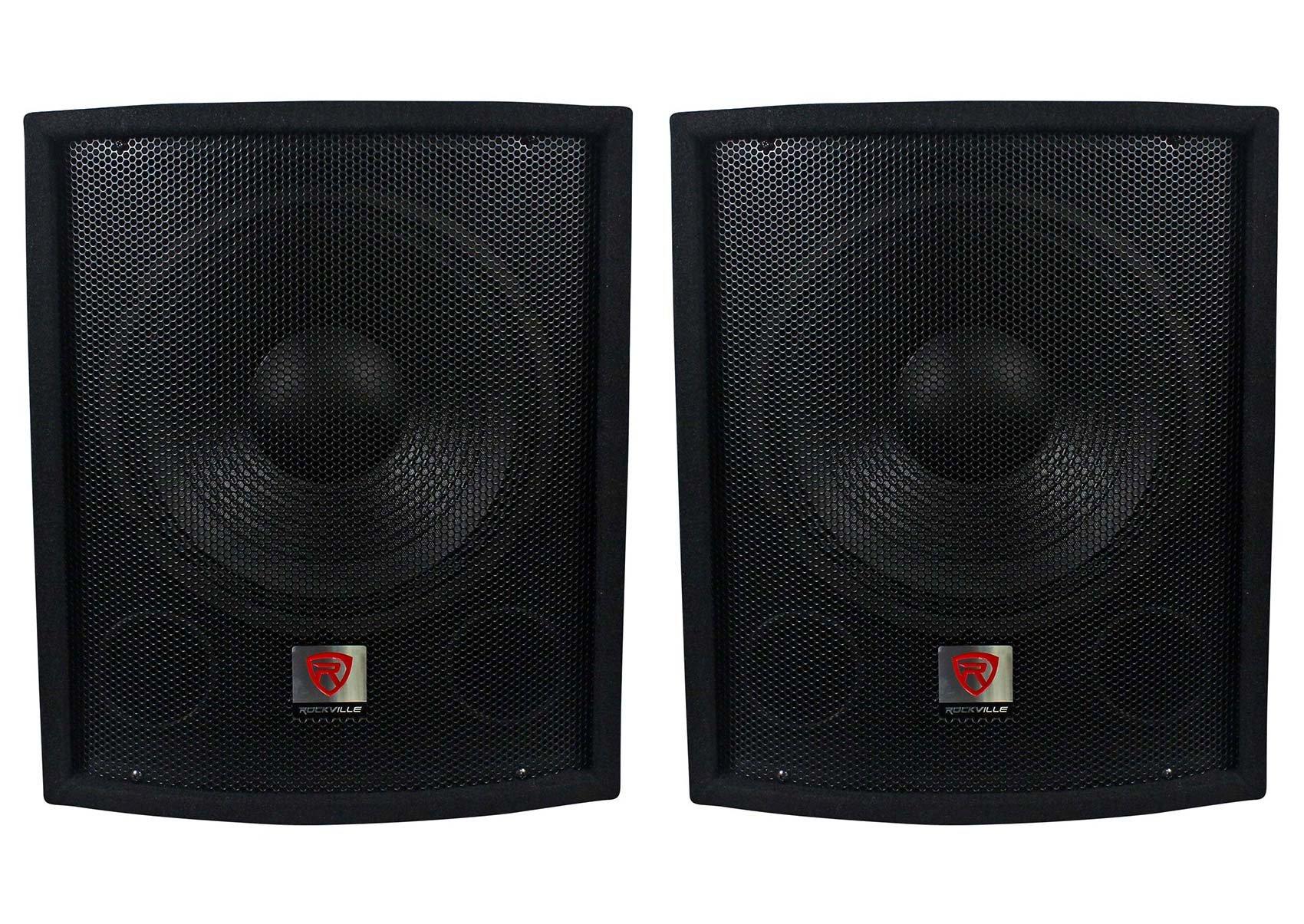 (2) New Rockville SBG1128 12'' 1200 Watt Passive Pro DJ Subwoofers Subs by Rockville