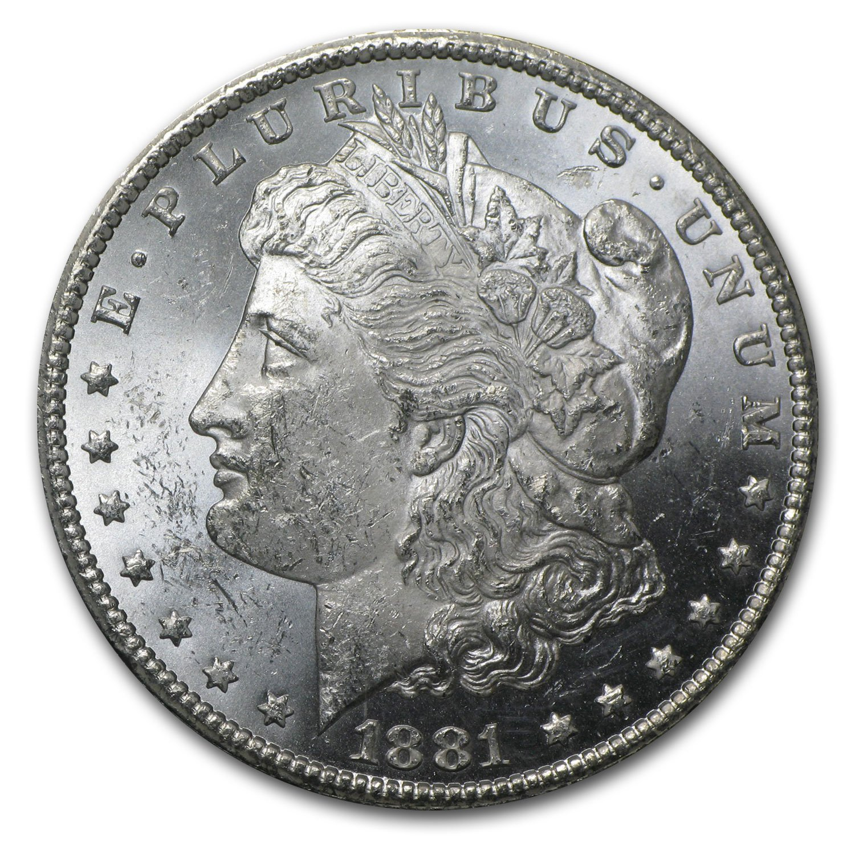 BU 1881-P Morgan Silver Dollar Brilliant Uncirculated