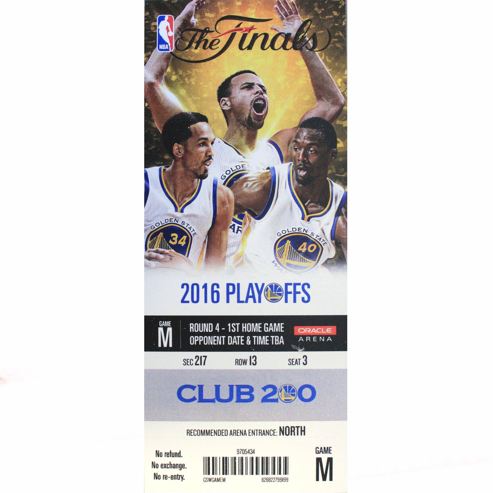 Official 2016 NBA Finals Golden State Warriors Mini-Mega Ticket
