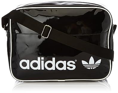 adidas Originals Women s Airline Bag Pat Shoulder Bag Black Noir  (Noir Blanc Zedeve fe75b21827dd5