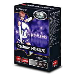 SAPPHIREビデオカード SAPPHIRE HD6670 1G GDDR5 PCI-E HDMI/DVI-I/DP