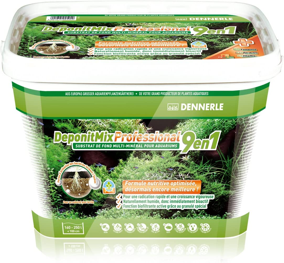Dennerle deponit 9-in-1Profesional Mezcla, Acuario sustrato Multi-Mineral Base 9,6kg