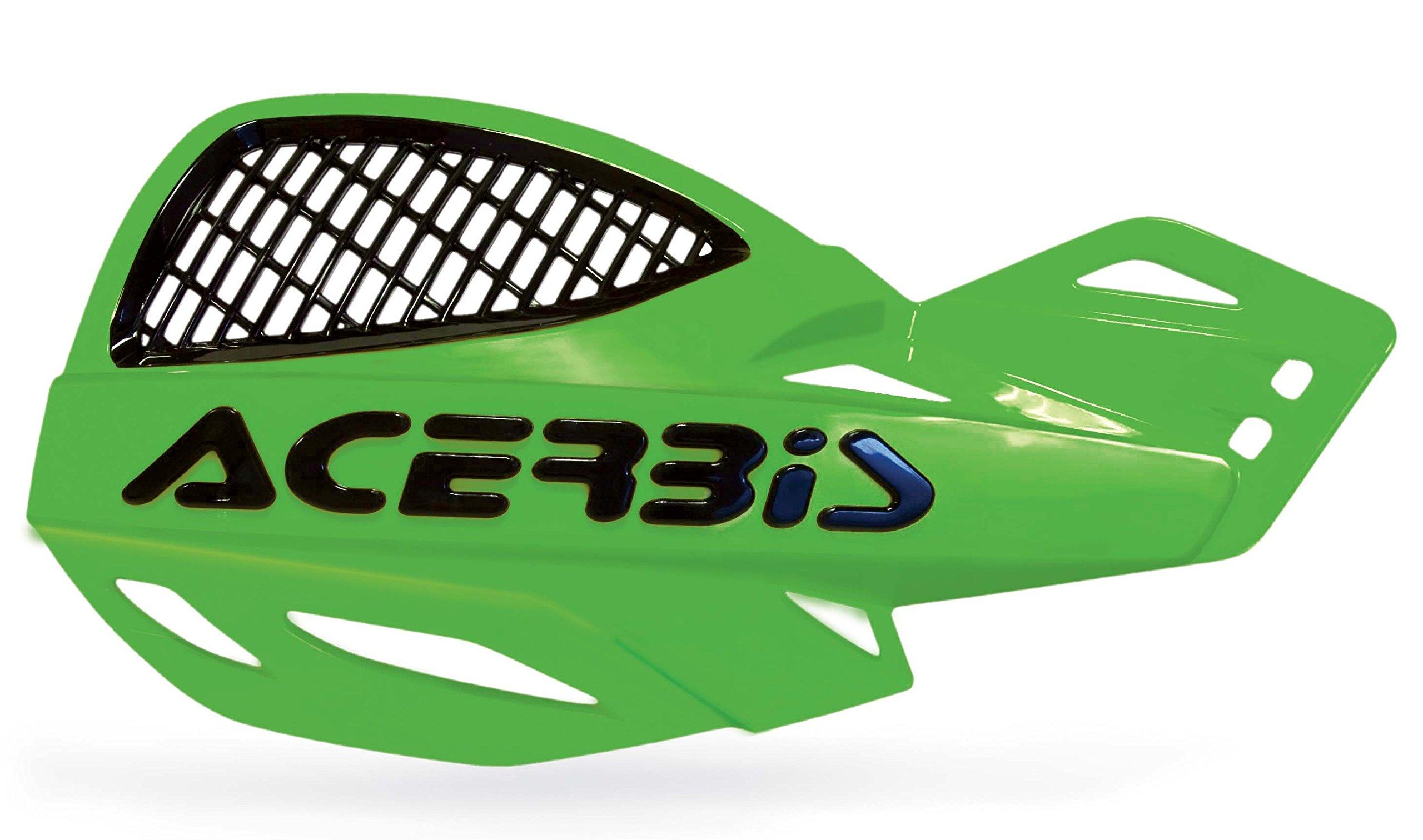 Acerbis Uniko Handguards Green Universal Mount Kit KX KXF KLX 125 250 450 NEW