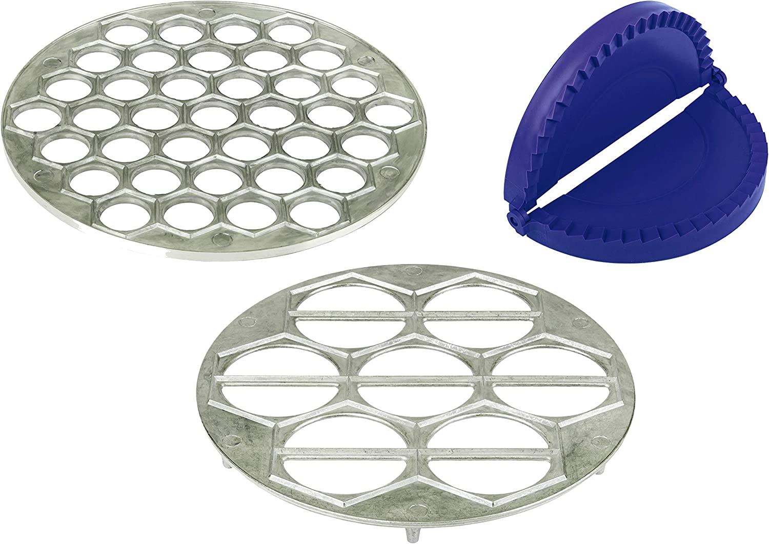 Mold for Pelmeni and Ravioli - Pack of 3 - Chebureki Plastic Maker Mold - Kitchen Large Vareniki Maker