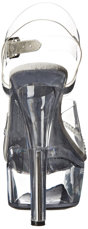 Ellie Shoes Women's 601 Jewel Platform Sandal B000BIF754 8 B(M) US|Clear