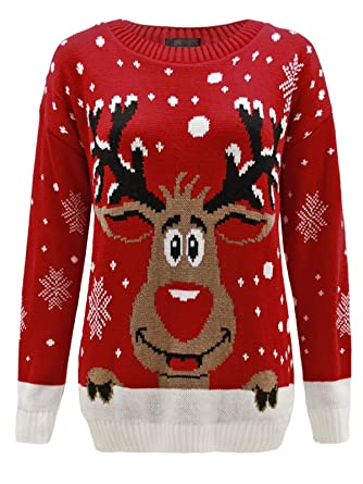 b89b62789ed7c Envy Boutique - Sweat Unisexe Homme Femme Flocon de Neige Rodolphe Noël -  S