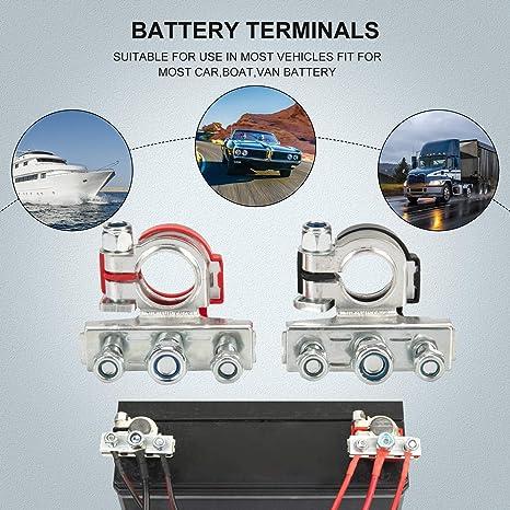 2x Stück Batterieklemme Batterieklemmen Auto Pkw Batterie Polklemmen Klemmen Auto