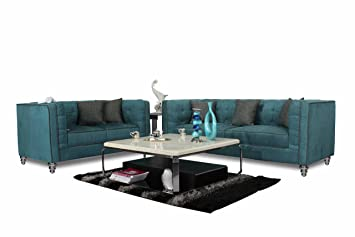 Marvelous Home City Urban 3 2 Seater Sofa Set Teal Amazon In Home Inzonedesignstudio Interior Chair Design Inzonedesignstudiocom