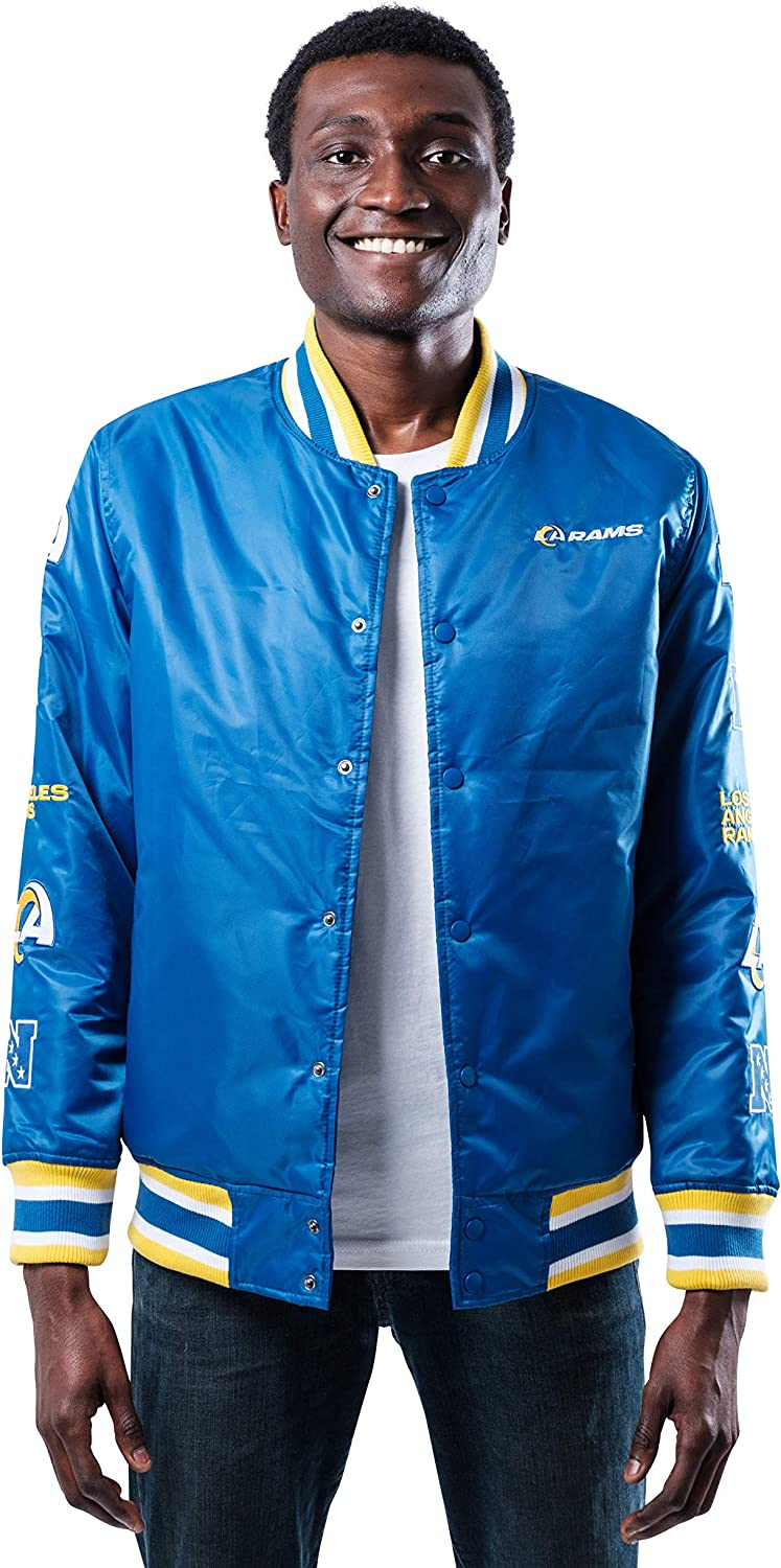 Ultra Game Men's Manufacturer direct delivery Varsity Jacket Team Logo Sale Special Price Patch with
