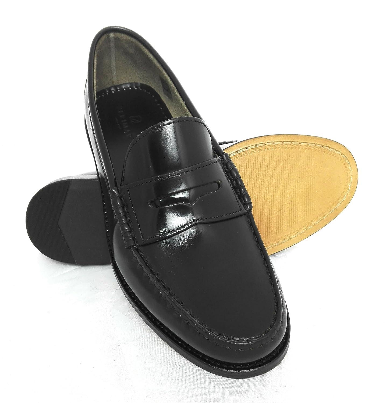 Zerimar Schuhe Mann | Herren Lederschuhe | Mokassins Schuhe Mann | Herren Leder Mokassins | Mokassins Schuh Antifaz  40 EU|Schwarz-?l