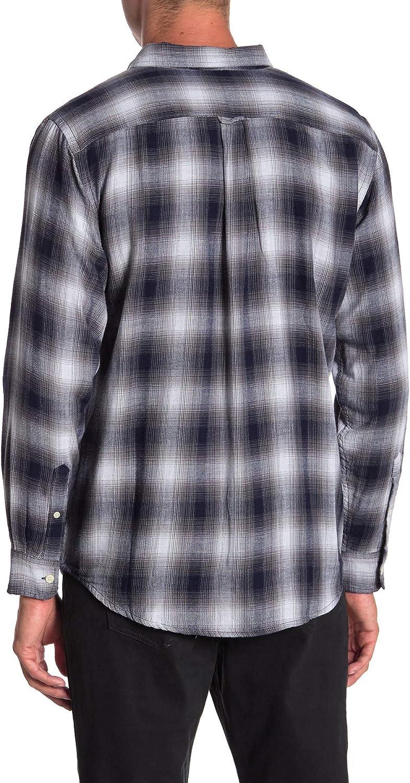 Joe Fresh Mens Shirt Small Standard Fit Button Down Plaid Blue S