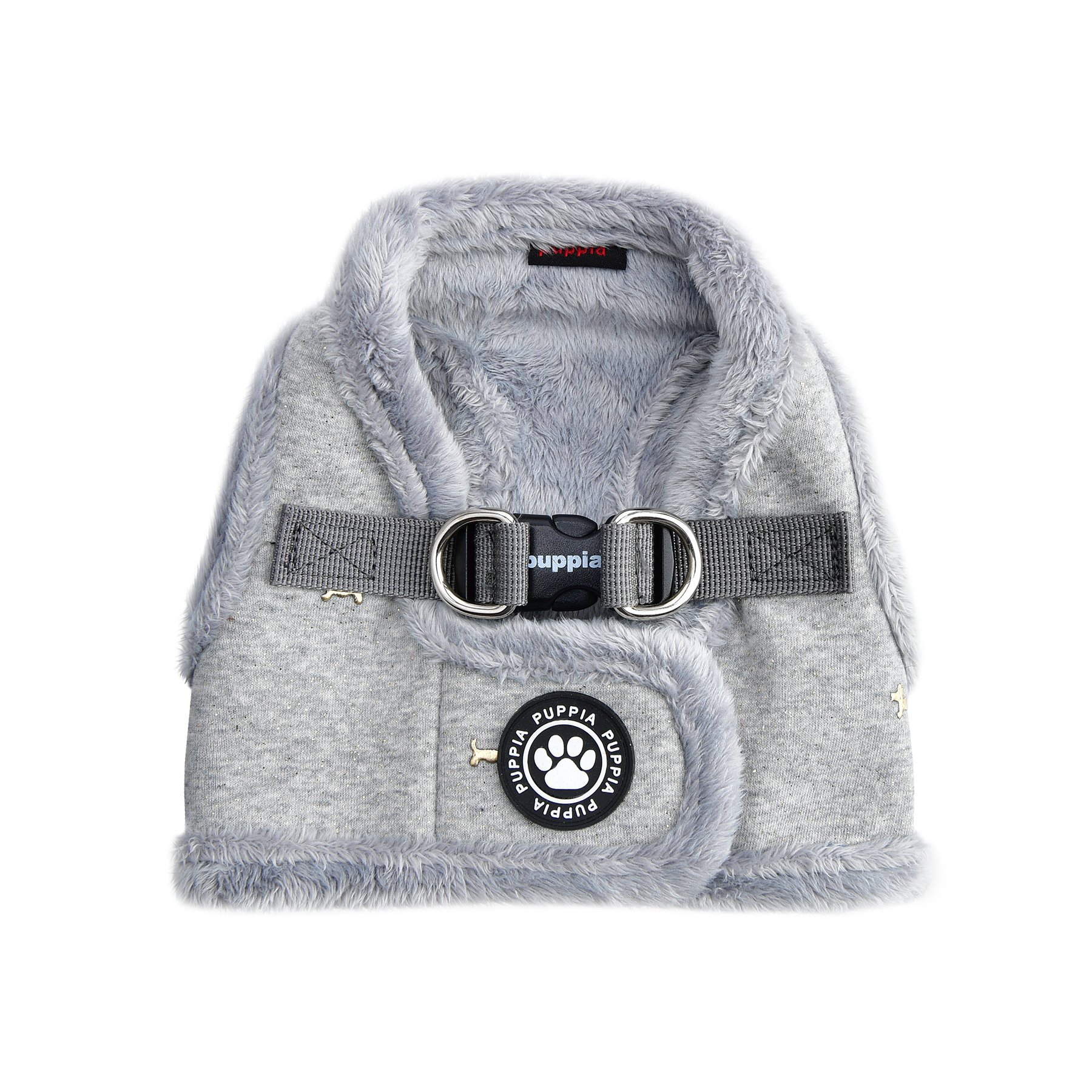 Puppia Gia Harness B, Medium, Melange Grey