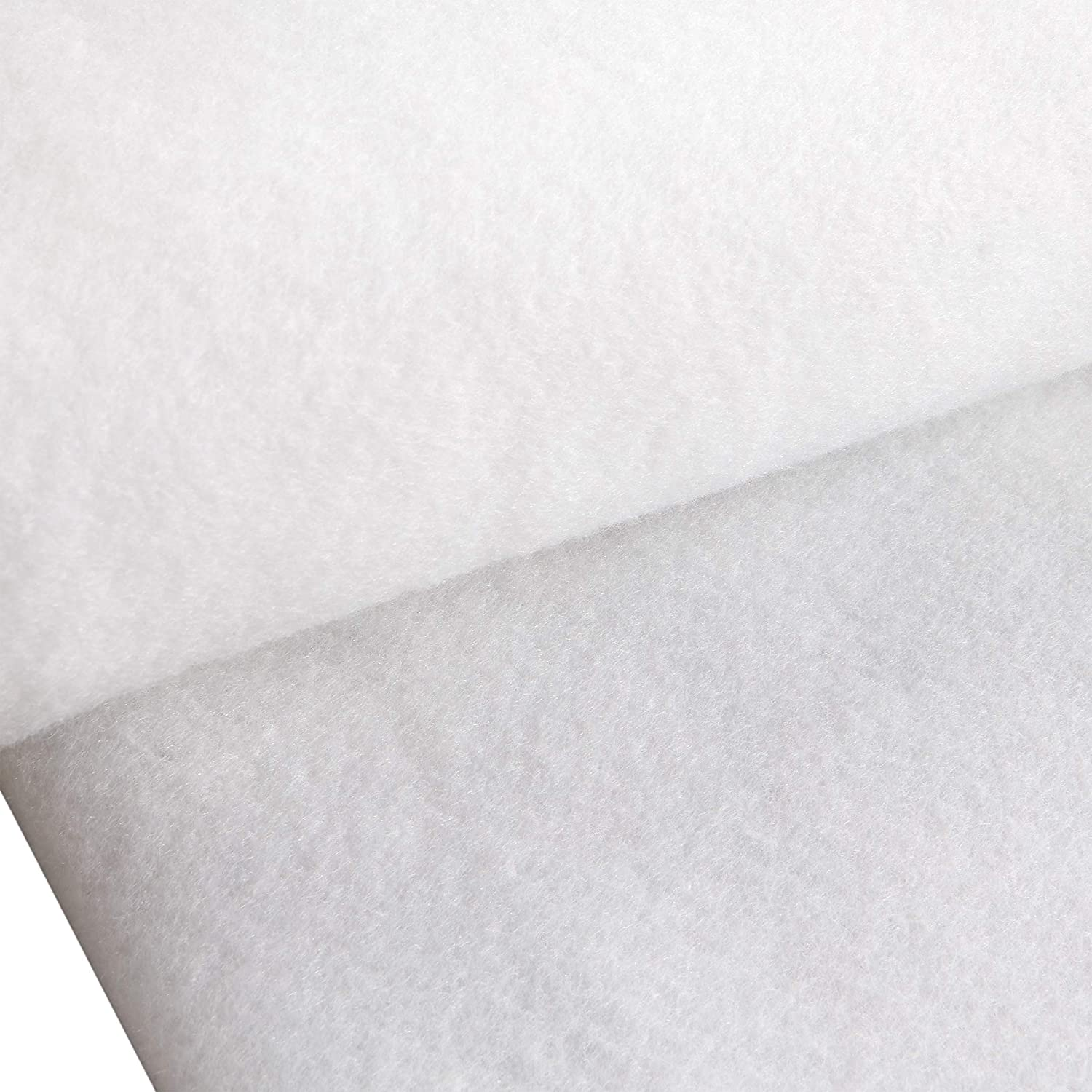 White The Warm Company Warm Fleece Fusible 45in Batting Fabric by The Yard