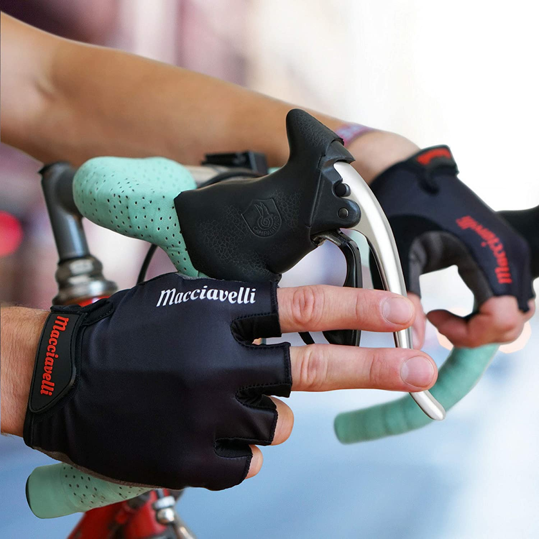 Guantes de Ciclismo Adecuado para Ciclismo de Carretera y de Monta/ña Guantes MTB de Medio Dedo MACCIAVELLI Guantes para Hombres y Mujeres