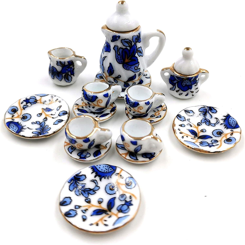 Taponukea Miniature Tea Sets Porcelain Dollhouse Kitchen Accessories and Furniture 1 12 Scale
