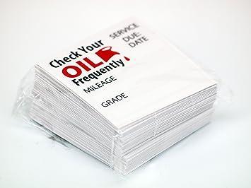 Oil Change/service Reminder Stickers 100 Stickers