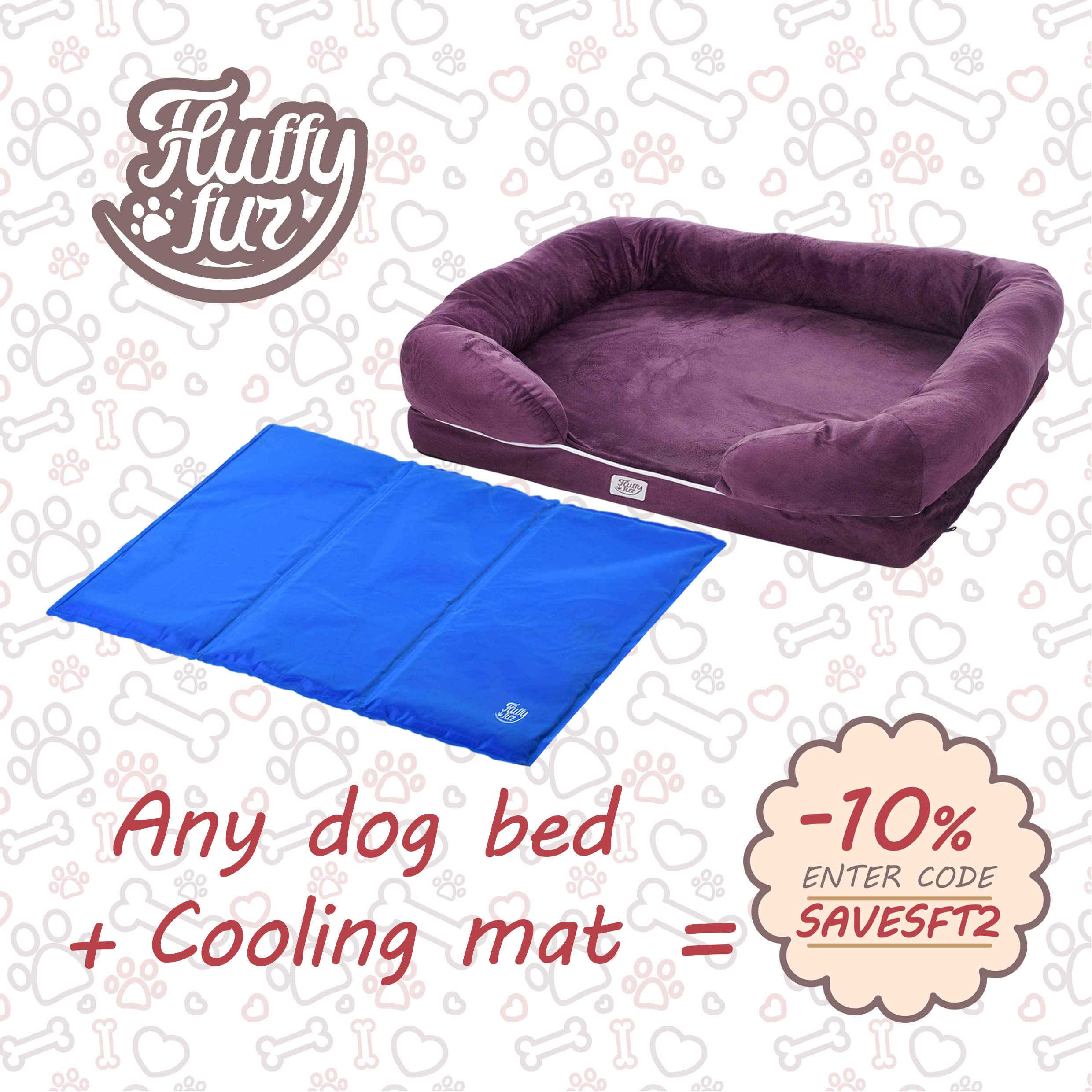 Dog Self Cooling Mat - Best Puppy Cold Gel Pad for Bed Crate Kennel Car Floor Blanket - Premium Waterproof Pet Cool Mat for Sleeping (S,M,L Sizes) (S)