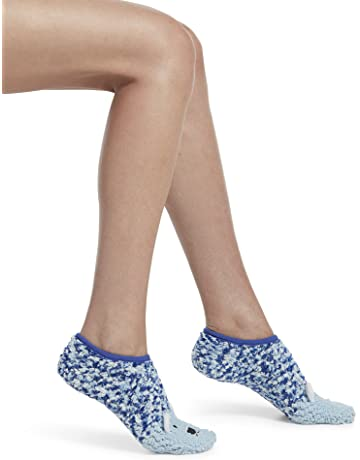0b507640290ad6 HUE Women s Critter Ultra-Soft No-Show Slipper Socks with Grippers