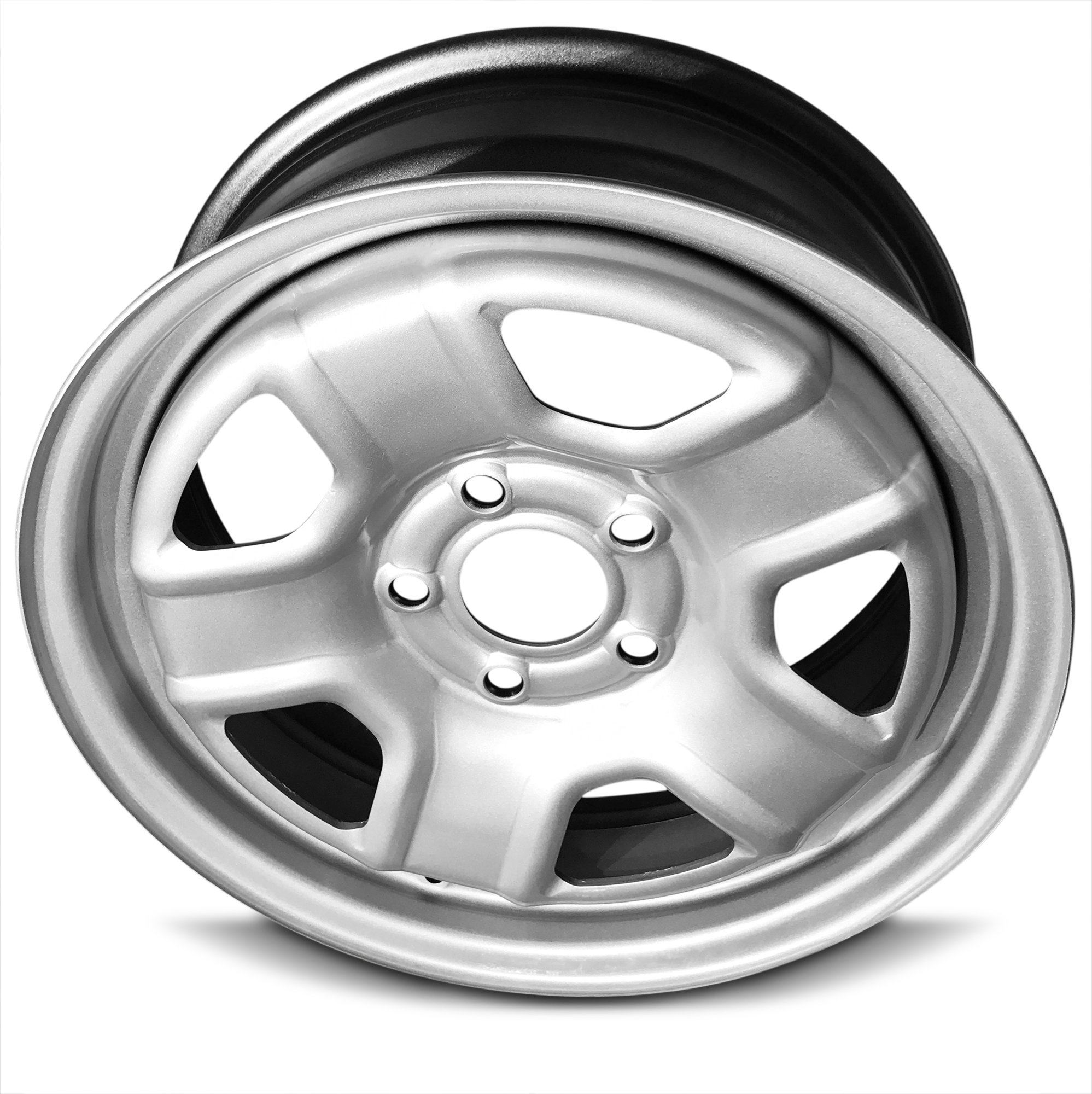 New 16 Inch Jeep Patriot Compass 5 Lug Silver Replacement Steel Wheel Rim 16x6.5 Inch 5 Lug 67.1mm Center Bore 40mm Offset WAA by Road Ready Wheels (Image #4)