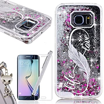 coque samsung s6edge paillette