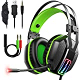 Mifanstech V-10 Gaming Headset for Xbox One PS4 PS5 PC with 7.1 Surround Sound and 50mm Drivers, Over Ear 3.5mm Stereo Wired