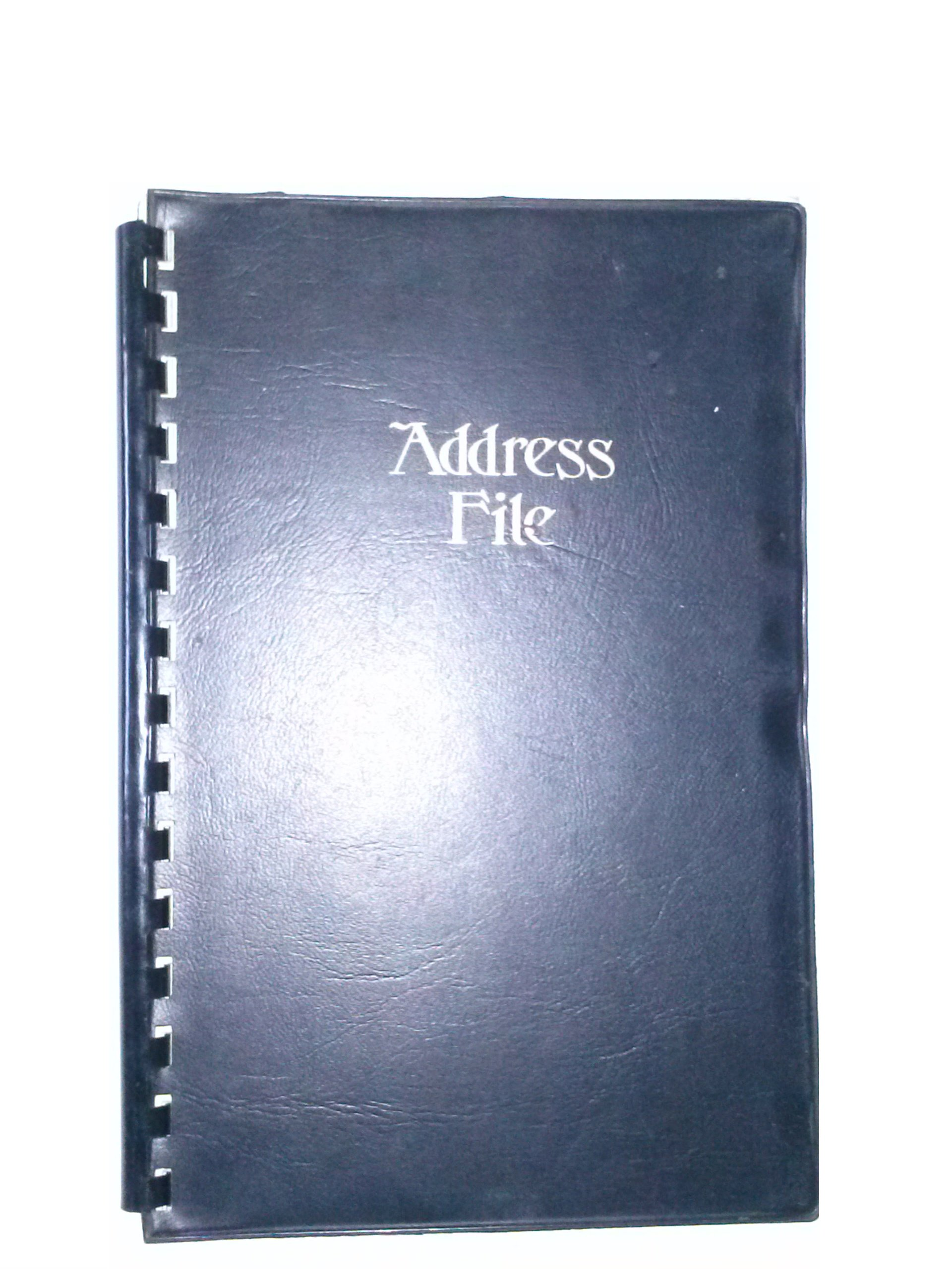 Samsill 81069 Address File 5'' x 7 3/4'' Black Cover by Samsill (Image #1)