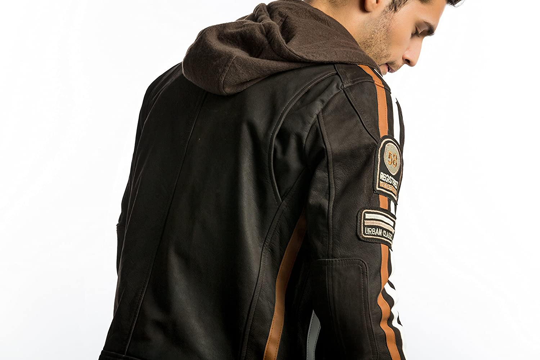 Colore Vintage Grigio Urban Leather 58 Gents Giacca da Uomo Taglia 2Xl