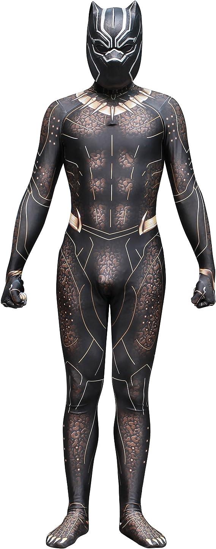 NEW EXOTIC Golden Brother Black Panther Disfraz De Cosplay Lycra ...