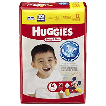 Amazon.com: Huggies Snug & Dry Diapers, Size 6, 21 Count ...