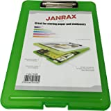 Janrax A4 Green Clipboard Box File - Storage Filing Case